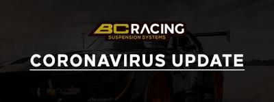 BC Racing - Coronavirus Update